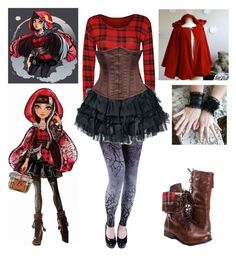 """Cerise Hood Cosplay - Ever After High"" by shadow-cheshire ❤ liked on Polyvore featuring мода и WearAll"