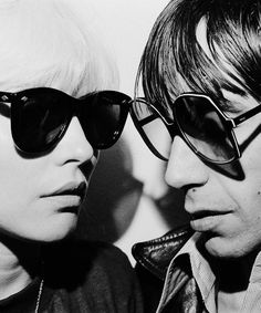 Debbie Harry and Iggy Pop. Photo by Chris Stein. Never seen this one, sooooo good!