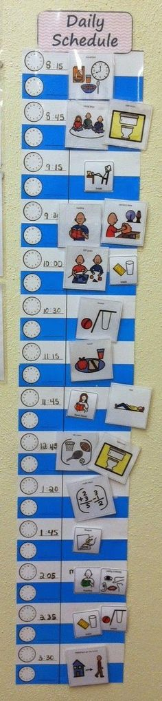 Schedules, structure and predictably help special education classrooms run smoothly. There are so many different varieties of schedules out . Classroom Daily Schedule, Kids Schedule, Classroom Tools, Autism Classroom, Classroom Organization, Autism Education, Preschool Special Education, Autism Resources, Visual Timetable