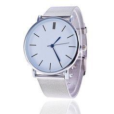 0e124af4f78 Vansvar Brand Fashion Silver Casual Quartz Watch Women Metal Stainless  Steel Dress Watches Relogio Feminino Clock 1886
