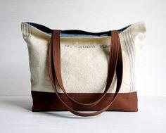 Recycled Grain Sack Tote Bag. $100NZ, via Etsy.