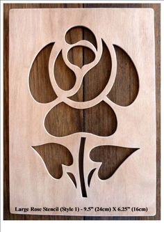 "Beautiful Large Sized Hand Crafted MDF 'Rose' Drawing Template / Stencil - 9.75"" X 6.25"" (Style 1) by Greg Ledder http://www.amazon.co.uk/dp/B00KD4CZ5G/ref=cm_sw_r_pi_dp_hgLjvb11AW5JE"