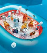 Fantastic tips on throwing a pool party-like using an inflatable boat as a cooler.