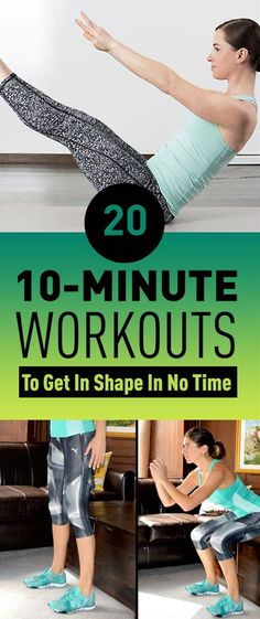 Every woman wants to have a beautiful and healthy body but working all day at a desk won't help. We understand that sometimes there just isn't enough time in the day to do a full workout or go to the gym. So, we brought you 20 exercises that you can do in just ten minutes, these exercises will make you feel better during the day and will get you in shape in a short period of time.