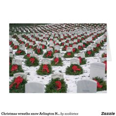 Christmas Wreaths At Arlington Cemetery-Truth! Summary of eRumor: A picture of beautiful Christmas wreaths on graves at Arlington National Cemetery