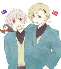 Hetalia (ヘタリア) - Norway & Iceland -「ほぐおーらくがきまとめとスチームパンク的な」/「あづまる」の漫画 [pixiv]