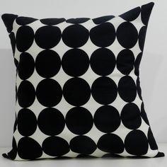 New 18x18 inch Designer Handmade Pillow Case in Dwell Studio large black dots.. $24.00, via Etsy.