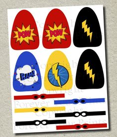 Your place to buy and sell all things handmade Avengers Birthday, Superhero Birthday Party, 3rd Birthday, Student Crafts, Lollipop Party, Superhero Classroom, Masked Man, Man Party, Party Printables