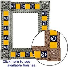 Mexico has long been renowned for its beautiful and uniquely original tin mirror frames, and La Fuente Imports is proud to offer the largest selection available anywhere on the web!  Each frame is hand made by artisan families in the stunning colonial cities of central Mexico.  The highly artistic and decorative designs featured on these pages reflect the strong traditions and expert craftsmanship of the artists.