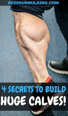 Workout Exercise The muscle building secret to huge calves! Build massive calves with these muscle building tips. Bodybuilding Training, Bodybuilding Workouts, Build Muscle Fast, Gain Muscle, Bodybuilder, Muscle Fitness, Health Fitness, Fitness Studio Training, Calf Exercises