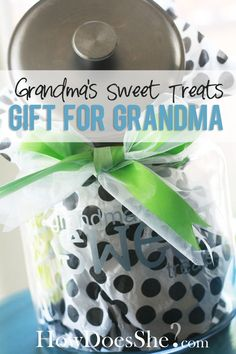 DIY Grandma Treat Jar! Perfect gift idea! #mothersday #giftidea from howdoesshe.com