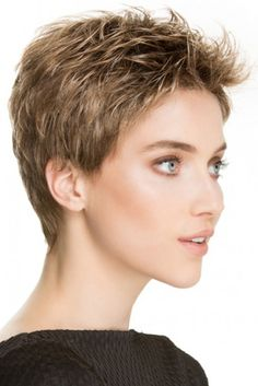 Tab by Ellen Wille Wigs - Hand Tied, Monofilament Crown, Lace Front Wig Haircut For Older Women, Short Hair Cuts For Women, Short Hairstyles For Women, Short Pixie Haircuts, Pixie Hairstyles, Super Short Hair, Great Haircuts, My Hairstyle, Hairstyle Hacks