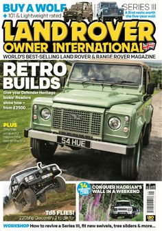 In this issue;  Retro Builds- give your Defender Heritage looks! Readers show how- from £2500  Conquer Hadrian's Wall in a weekend- 14 borders green lanes  PLUS Workshop- How to revive a series III, fit new swivels, tree sliders and more..  Get the chance to WIN £200 Britpart voucher!