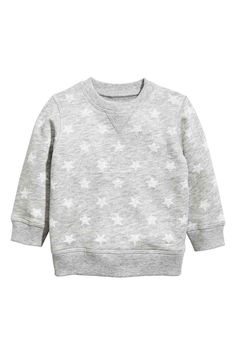 Sweatshirt: CONSCIOUS. Top in soft sweatshirt fabric made from organic cotton with press-studs on one shoulder and ribbing around the neckline, cuffs and hem. Soft brushed inside.