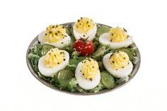 deviled eggs miniature dollhouse food by amanspeak on Etsy