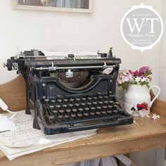 Hidden Treasure House with a vintage typewriter  http://wealdentimes.co.uk/house/wt150b/index.asp
