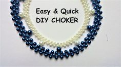 Easy & Quick DIY Choker Necklace.