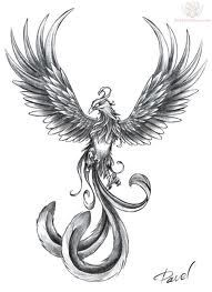 #phoenix #tattoo - overall like, but with thinner more feminine tail feathers
