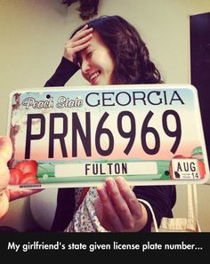 This is officially my favorite Georgia License Plate