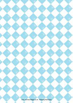 Charming checks scrapbook paper blue