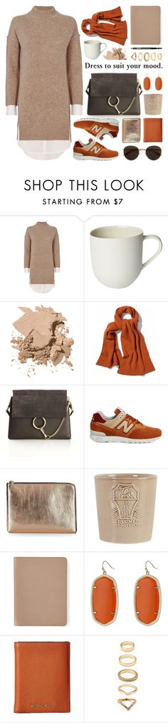 """layered sweater dress"" by jesuisunlapin ❤ liked on Polyvore featuring Brochu Walker, Mud Australia, Bobbi Brown Cosmetics, WtR London, Chloé, New Balance, Ivanka Trump, Brunello Cucinelli, Graphic Image and Kendra Scott"