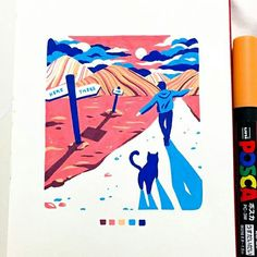 No automatic alt text available. Marker Kunst, Posca Marker, Marker Art, Amazing Drawings, Colorful Drawings, Cool Drawings, Kunst Inspo, Art Inspo, Art And Illustration