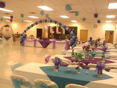 Party hall decoration with balloons | ... decoration in Diamond Springs at the Firefighter Memorial Hall