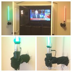 awesome trademaster 2 port usb charger tamper resistant diy star wars ultimate fx light saber sconce held up by modified artist manikin hand controlled