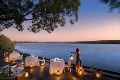Two magnificent, luxuriously appointed lodges make up Royal Chundu, a splendid riverside hideaway nestled between Zambia's Victoria Falls and Chobe National Park in Botswana.