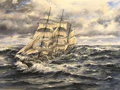 Gorch Fock Acryl auf Leinwand  windjammer tall ship