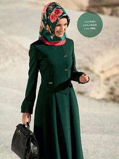 Hijab and abaya is the Muslim women attire that covers him. The trend of hijab and abaya is increase Modest Fashion Hijab, Hijab Chic, Abaya Fashion, Women's Fashion, Modern Fashion, Muslim Dress, Hijab Dress, Hijab Styles, Islamic Fashion