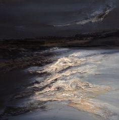 Moonlight Sea- mixed media textile art. Laura Edgar