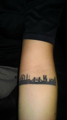 My London skyline tattoo.
