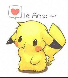 Dibujo de pikachu. Te amo