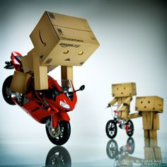 Danbo Endo!    It's starting to look more and more like a week of extremes as Danbo practices some stoppies.