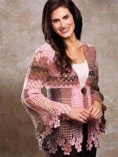 *Crochet - Shamrock Lace Sweater - #EC00957