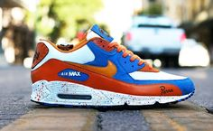 detailed look 9459e b4db1 Only $80.99 Plus Free Shipping, NIKE AIR MAX 90 MENS SHOES orange white  blue On