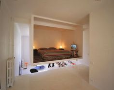 Open Plan Apartment with Bedroom Cube