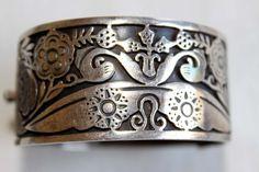 Bracelet | Los Ballesteros.  Sterling silver .  ca. pre 1948.