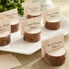 Rustic Real-Wood Place Card/Photo Holder | #exclusivelyweddings