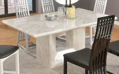 Then, speaking about the style of the costly dining room table, there's marble top dining table. How the style of this dining room table?