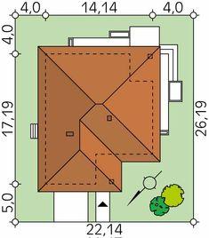 Ariel to wygodny i funkcjonalny dom parterowy odpowiadający potrzebom 4-osobowej rodziny. W projekcie zastosowano wiele ciekawych rozwiązań podnoszących komfort użytkowania. Część dzienna to otwarta przestrzeń salonu, jadalni i kuchni, której walory wizualne podnoszą liczne przeszklenia. W części nocnej znajdują się trzy funkcjonalne sypialnie. Sypialnia gospodarzy posiada dodatkowo bezpośredni dostęp do osobnej łazienki i garderoby. W domu zaprojektowano dwie łazienki oraz wc, które można…