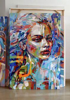 Noemi Safir Dolev Born in Uruguay. Artist based in Tel-Aviv. Arte Pop, Abstract Portrait, Portrait Art, Face Art, Art Techniques, Painting & Drawing, Large Painting, Modern Art, Art Drawings
