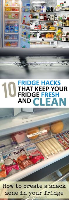 10 Fridge Hacks that Keep Your Fridge Fresh and Clean, cleaning tricks for the fridge, how to keep your fridge clean and fresh Deep Cleaning Tips, House Cleaning Tips, Diy Cleaning Products, Cleaning Solutions, Spring Cleaning, Cleaning Hacks, Fridge Cleaning, Kitchen Cleaning, Casa Clean