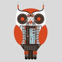 OWL DJ set-up? #djculture #posterart #musicart http://www.pinterest.com/TheHitman14/dj-culture-vinyl-fantasy/