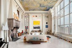Wohnzimmer Wohnideen hohe Decke Raum einrichten