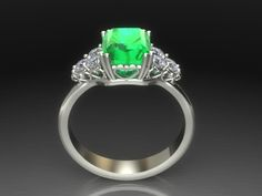 A classic yet romantic emerald and diamond ring from Luxedogems.it