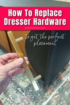 I HATE crooked hardware. It makes me crazy, and I can't ignore seeing a beautifully painted dresser and its whomperjawed pulls! Let me show you how to fix it. It's an easy furniture repair solution.