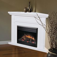 Corner Gas Fireplace Design Ideas corner gas fireplace designs Dimplex Baxter Corner Electric Fireplace White Corner Gas Fireplacecorner Electric Fireplacefireplace Designfireplace Mantelsfireplace Ideasbasement