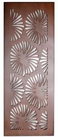 Flower Design Laser Cut Metal Art for Garden Wall from Earth Homewares